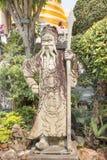 Statue of chinese man at Wat Phra Ka Stock Photography