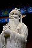 Statue of Chinese philosopher Confucius Beijing China. Beijing, China - October 21, 2015: A life size statue of Chinese wise man Confucius. Confucius was a Royalty Free Stock Images