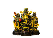 Statue of Chinese sacred gods Royalty Free Stock Image