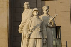 Statue of chinese soldier Stock Images