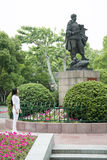 Statue of Chinese soldier in Hangzhou, China Royalty Free Stock Images