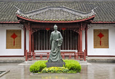 Statue of a Chinese tea plantation founder Stock Photos