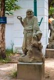 Statue chinoise dans le temple images libres de droits