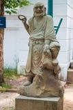 Statue chinoise dans le temple image libre de droits