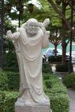 Statue chinoise dans le temple bouddhiste image libre de droits