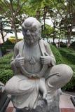 Statue chinoise dans le temple bouddhiste images libres de droits