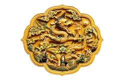 Statue chinoise de dragon Photo stock