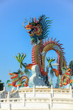 Statue chinoise de dragon Photo stock