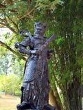 Statue chinoise de guerrier d'un dieu ou quatre rois merveilleux Photo stock