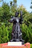 Statue chinoise de guerrier d'un dieu ou quatre rois merveilleux Image libre de droits