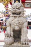 Statue chinoise de lion Photographie stock libre de droits