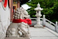 Statue chinoise de lion Images libres de droits