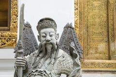 Statue chinoise de plan rapproché chez Wat Pho, temple à Bangkok Images stock