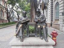 Statue chinoise et européenne Photo libre de droits