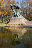 Statue Chopin, Varsovie, Pologne images libres de droits
