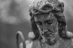 Statue of Christ on cementery Royalty Free Stock Photos