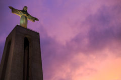 Statue of Christ the King in Lisbon Royalty Free Stock Photos