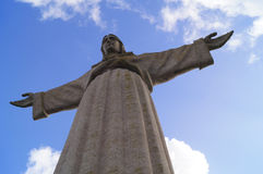 The statue of Christ in Lisbon,Portugal. Royalty Free Stock Images