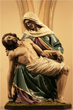 Statue of Christ and Mary. Beautiful statue of a religious nature stock photography