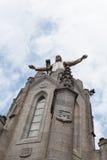 Statue of Christ on Mount Tibidabo, Barcelona Stock Image