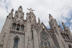 Statue of Christ on Mount Tibidabo, Barcelona Royalty Free Stock Photos