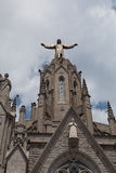 Statue of Christ on Mount Tibidabo, Barcelona Stock Photos