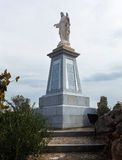 Statue of Christ on the mountain in Olvera Royalty Free Stock Photography