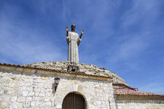 Statue of Christ the Otero in Palencia, Spain Royalty Free Stock Photo