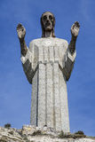 Statue of Christ the Otero in Palencia, Spain Royalty Free Stock Image