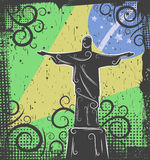 Statue of Christ the Redeemer background Stock Image