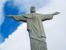 Statue Christ the Redeemer in Brasil Stock Photos