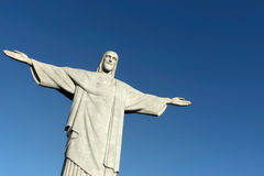 Statue of Christ the Redeemer on Corcovado mountain Stock Photos