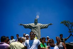 Statue of Christ The Redeemer, Corcovado Mountain, Rio de Janeiro, Brazil royalty free stock images