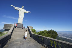 Statue of Christ the Redeemer Morning View Stock Photography