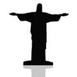 Statue of Christ the redeemer in Rio de Janeiro vector Stock Image