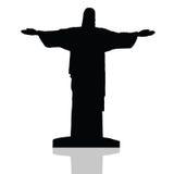 Statue of Christ the redeemer in Rio de Janeiro vector Stock Image