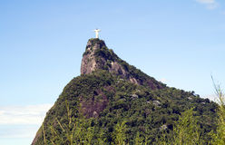 The statue of Christ in Rio de Janeiro. Royalty Free Stock Image