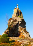 Statue of Christ on the rock in  Hacinas Royalty Free Stock Image