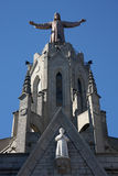 Statue of Christ on the top of the cathedral Royalty Free Stock Photography