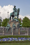 Statue of Christian V in Copenhagen, Denmark. Stock Images