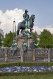 Statue of Christian V in Copenhagen, Denmark. Stock Images
