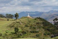 Statue, Christo, Blanco, White, Jesus Christ, Cusco,Peru, Andes, Stock Photos