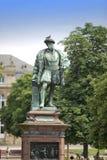 Statue of Christoph Duke of Wuerttemberg on Caste Square Schlossplatz , Stuttgart, Germany Royalty Free Stock Photography