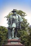 Statue of Christoph Duke of Wuerttemberg on Caste Square Schlossplatz , Stuttgart, Germany Stock Photography