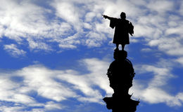Statue of Christopher Columbus. A Statue of Christopher Columbus against a blue sky Stock Images