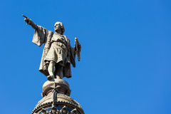 Statue of Christopher Columbus in Barcelona Royalty Free Stock Photos
