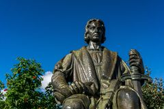 Statue of Christopher Columbus Stock Photos