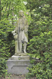 Statue of Christopher Columbus in Louisberg Square, the Beacon H Royalty Free Stock Image