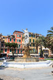 Statue of Christopher Columbus in the Piazza della Liberta, Santa Margherita Ligure Royalty Free Stock Photos