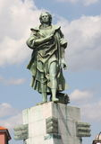 The statue of Christopher Columbus Stock Image